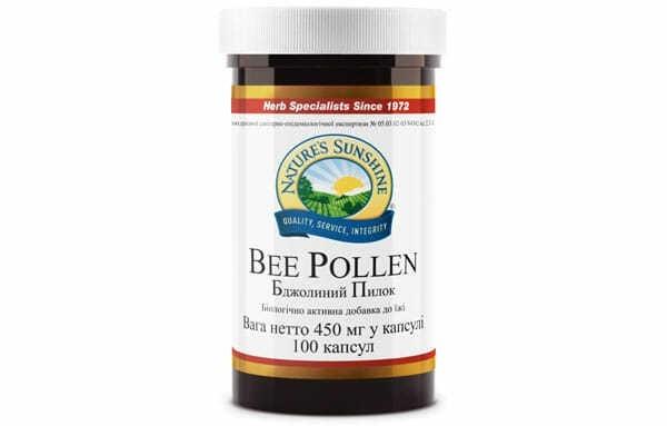 Пчелиная пыльца НСП в капсулах - биологически активная добавка (бад к пище) производства США