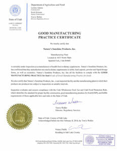 GMP сертификат соответствия, список бады витамины НСП
