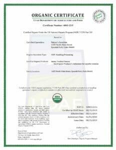 Органика сертификаты качества бад препаратов НСП