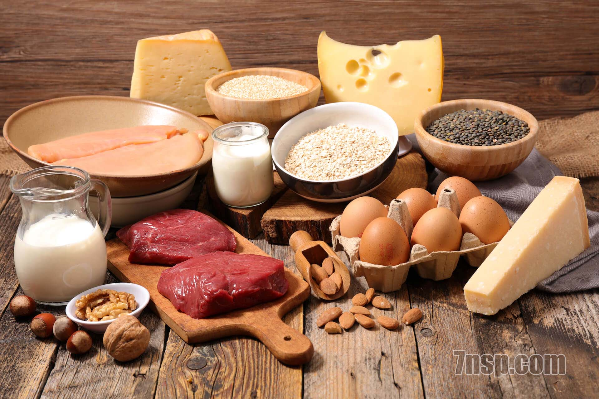 Белки в продуктах - список топ 10 продуктов с высоким содержанием белка, таблица, суточная потребность