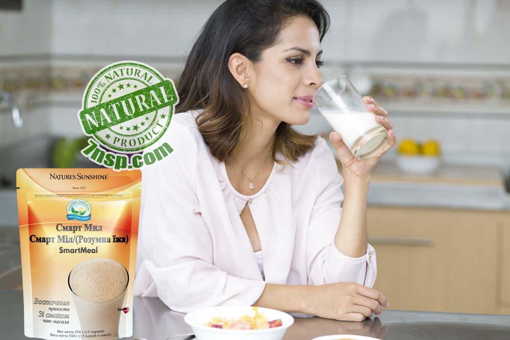 Смарт Мил НСП: умная еда, полезный, белковый протеиновый коктейль правильного здорового питания, быстрый перекус для похудения